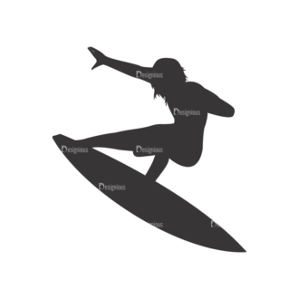 Surfer Silhouettes Pack 1 3 Preview Clip Art - SVG & PNG vector