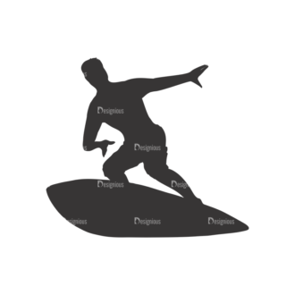 Surfer Silhouettes Pack 1 4 Preview Clip Art - SVG & PNG vector
