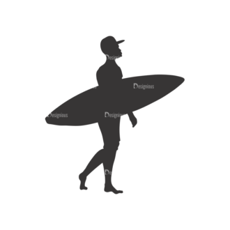 Surfer Silhouettes Pack 1 5 Preview Clip Art - SVG & PNG vector