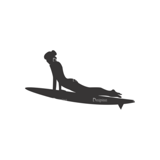 Surfer Silhouettes Pack 1 7 Preview Clip Art - SVG & PNG vector
