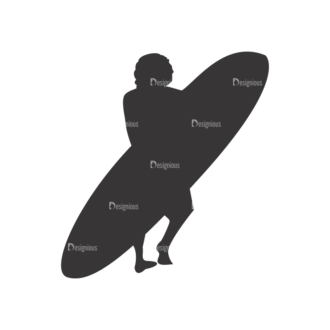 Surfer Silhouettes Pack 1 8 Preview Clip Art - SVG & PNG vector