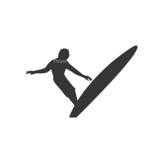Surfer Silhouettes Pack 1 9 Preview Clip Art - SVG & PNG vector