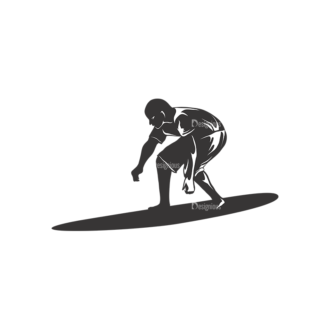Surfer Silhouettes Pack 2 1 Preview Clip Art - SVG & PNG vector