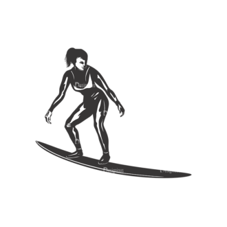 Surfer Silhouettes Pack 2 10 Preview Clip Art - SVG & PNG vector