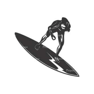 Surfer Silhouettes Pack 2 12 Preview Clip Art - SVG & PNG vector