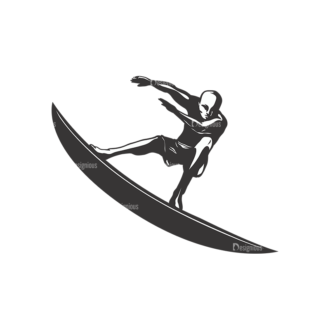 Surfer Silhouettes Pack 2 2 Preview Clip Art - SVG & PNG vector