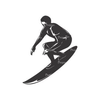 Surfer Silhouettes Pack 2 4 Preview Clip Art - SVG & PNG vector