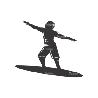 Surfer Silhouettes Pack 2 8 Preview Clip Art - SVG & PNG vector