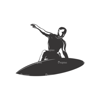 Surfer Silhouettes Pack 2 9 Preview Clip Art - SVG & PNG vector