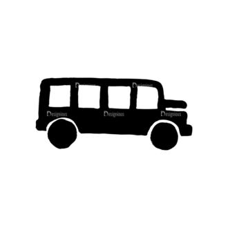 Travel Set 14 Vector Bus Clip Art - SVG & PNG vector