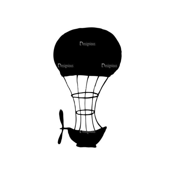 Travel Set 14 Vector Hotair Balloon 06 Clip Art - SVG & PNG vector