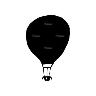 Travel Set 14 Vector Hotair Balloon 07 Clip Art - SVG & PNG vector