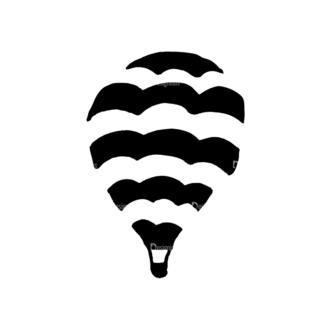 Travel Set 14 Vector Hotair Balloon 08 Clip Art - SVG & PNG vector