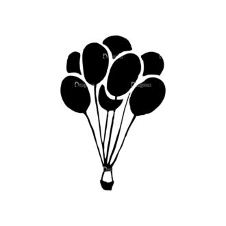 Travel Set 14 Vector Hotair Balloon 10 Clip Art - SVG & PNG vector