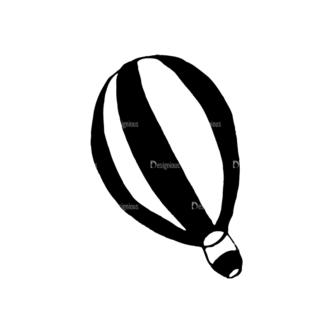 Travel Set 14 Vector Hotair Balloon 11 Clip Art - SVG & PNG vector