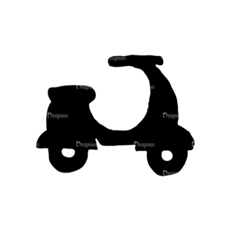 Travel Set 14 Vector Scooter Clip Art - SVG & PNG vector
