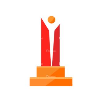 Trophy And Awards Vector Set 1 Vector Trophy 07 Clip Art - SVG & PNG vector