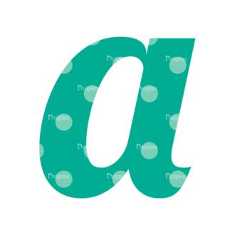 Typographic Characters Vector Set 3 Vector A Clip Art - SVG & PNG vector