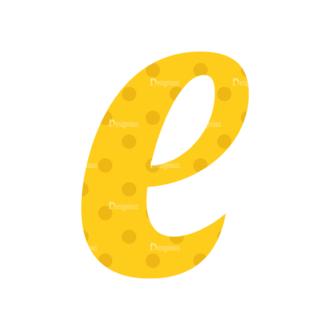Typographic Characters Vector Set 3 Vector E Clip Art - SVG & PNG vector