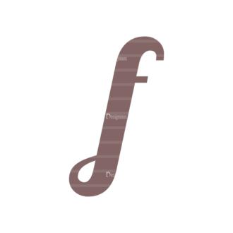 Typographic Characters Vector Set 3 Vector F Clip Art - SVG & PNG vector