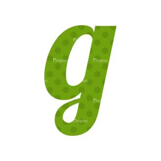 Typographic Characters Vector Set 3 Vector G Clip Art - SVG & PNG vector