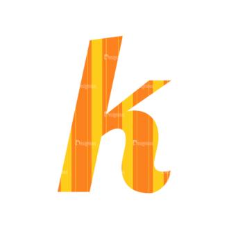 Typographic Characters Vector Set 3 Vector K Clip Art - SVG & PNG vector