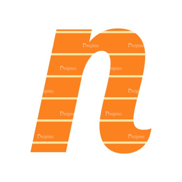 Typographic Characters Vector Set 3 Vector N Clip Art - SVG & PNG vector