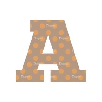Typographic Characters Vector Set 4 Vector A Clip Art - SVG & PNG vector