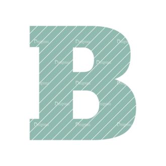 Typographic Characters Vector Set 4 Vector B Clip Art - SVG & PNG vector