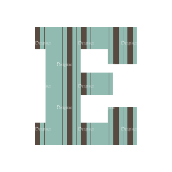 Typographic Characters Vector Set 4 Vector E typographic characters vector set 4 vector E