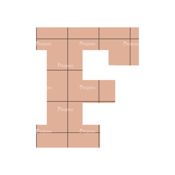 Typographic Characters Vector Set 4 Vector F Clip Art - SVG & PNG vector