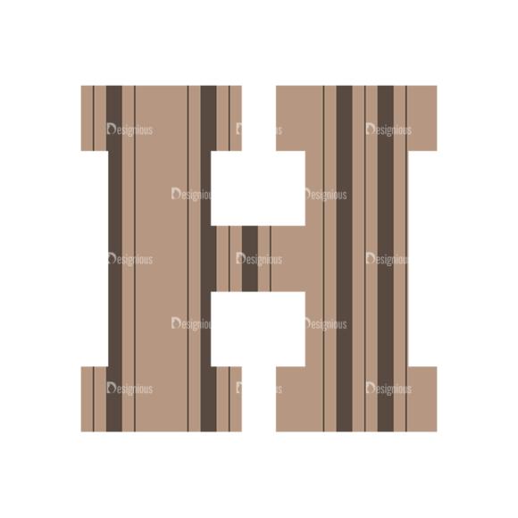 Typographic Characters Vector Set 4 Vector H Clip Art - SVG & PNG vector