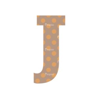 Typographic Characters Vector Set 4 Vector J Clip Art - SVG & PNG vector