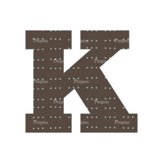 Typographic Characters Vector Set 4 Vector K Clip Art - SVG & PNG vector