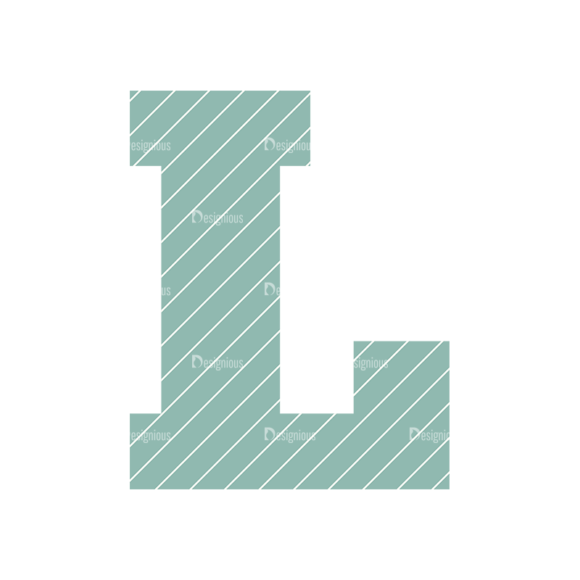 Typographic Characters Vector Set 4 Vector L Clip Art - SVG & PNG vector