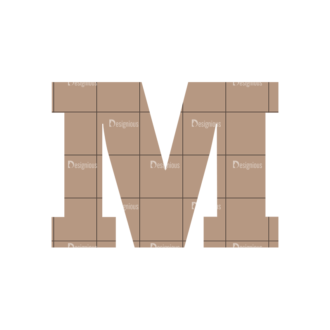 Typographic Characters Vector Set 4 Vector M Clip Art - SVG & PNG vector