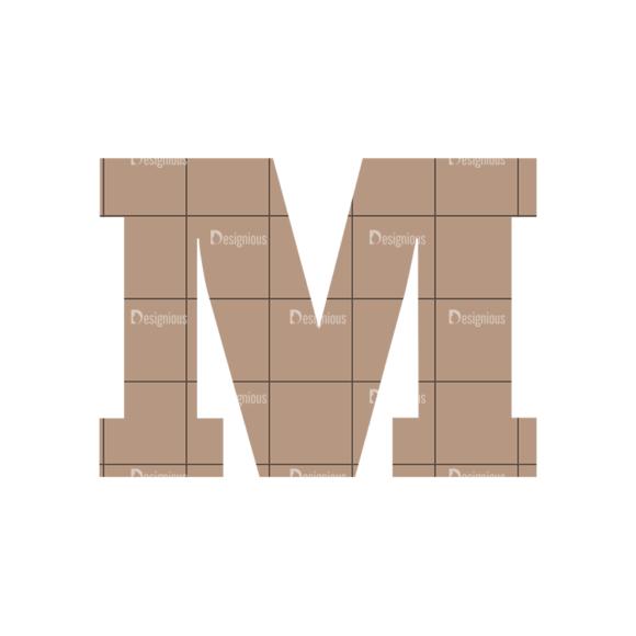 Typographic Characters Vector Set 4 Vector M typographic characters vector set 4 vector M
