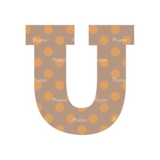 Typographic Characters Vector Set 4 Vector U Clip Art - SVG & PNG vector
