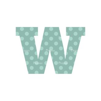 Typographic Characters Vector Set 4 Vector W Clip Art - SVG & PNG vector