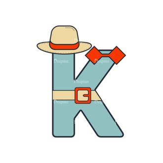 Typographic Characters Vector Set 6 Vector K Clip Art - SVG & PNG vector