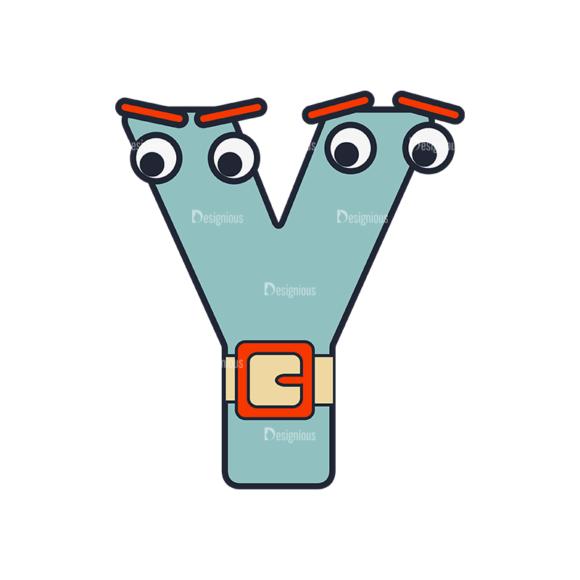 Typographic Characters Vector Set 6 Vector Y Clip Art - SVG & PNG vector