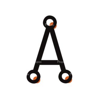 Typographic Characters Vector Set 7 Vector A Clip Art - SVG & PNG vector