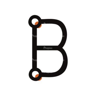 Typographic Characters Vector Set 7 Vector B Clip Art - SVG & PNG vector