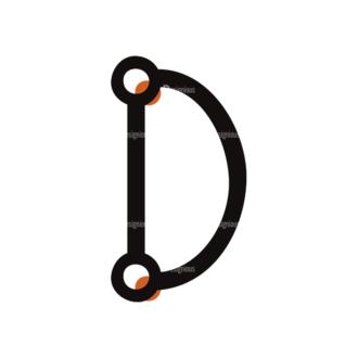 Typographic Characters Vector Set 7 Vector D Clip Art - SVG & PNG vector