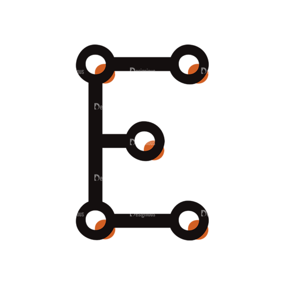 Typographic Characters Vector Set 7 Vector E Clip Art - SVG & PNG vector