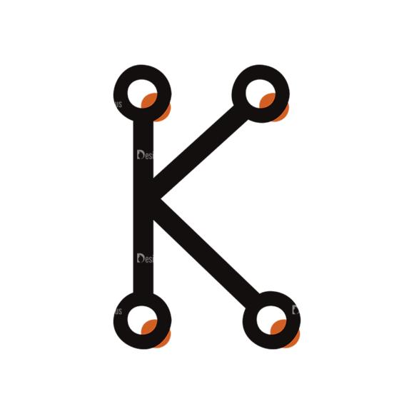 Typographic Characters Vector Set 7 Vector K Clip Art - SVG & PNG vector