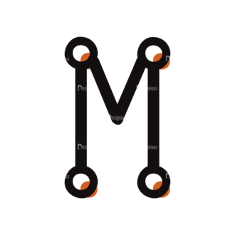 Typographic Characters Vector Set 7 Vector M Clip Art - SVG & PNG vector