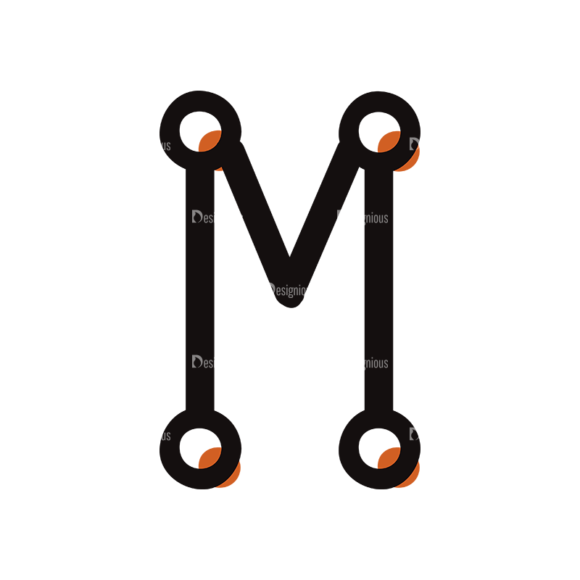 Typographic Characters Vector Set 7 Vector M 5