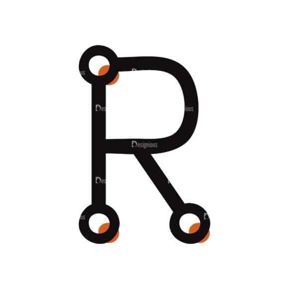 Typographic Characters Vector Set 7 Vector R Clip Art - SVG & PNG vector