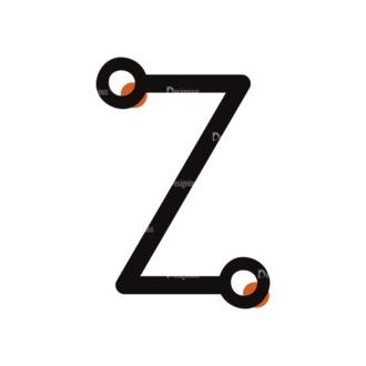 Typographic Characters Vector Set 7 Vector Z Clip Art - SVG & PNG vector